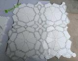 ホテルの装飾のための正方形の自然な大理石の石造りのウォータージェットのモザイク