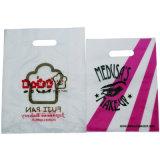Kundenspezifischer Entwurf gestempelschnittener Griff-Beutel für Einkaufen-Plastiktasche
