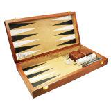 Finition mate gravé jeu de Backgammon en bois de placage