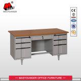 Ordinateur de bureau en métal avec six Drawerswooden Haut Bureau exécutif Table