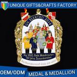 新しいデザインリボンの金メダルが付いているよい価格の金属