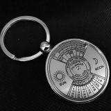Metallo su ordinazione Keychain di figura rotonda con il calendario