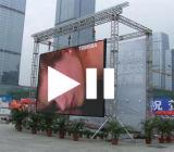PH5.95mm Ángulo ajustable Die Aluminio fundido SMD al aire libre LED Sistema de visualización (CE, RoHS)