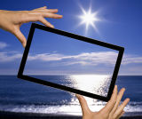 Ar// Vidrio Cristal antirreflectante contra cristal reflectante