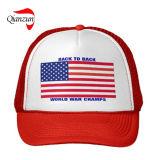 Высокая классические американские флаги Stiped Trucker крышки