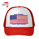 Hohe klassische amerikanische Flaggen Stiped Fernlastfahrer-Schutzkappen