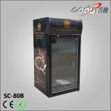 De Koeler van de Vertoning van de Drank van het grootwinkelbedrijf met de Reclame van Licht Vakje (SC80B)