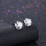 925 순은 눈 꽃 모양 귀 장식 못 아름다운 디자인 귀걸이