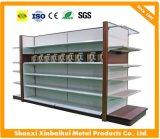 Nuevo estante de visualización de las mercancías del supermercado del metal de la tendencia con capa ajustable