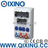 Cee/CEI imperméables en plastique Boîte de prise électrique de puissance (QCSM-0801-0804)