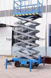 Manuelle Towable Scissor Aufzug-mobile Aufzug-Plattform auf Lager