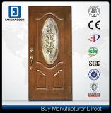 Porta de madeira principal Porta de vidro de fibra de vidro