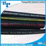 Boyau hydraulique en caoutchouc tressé de fil à haute pression pour l'exploitation 1sn 2sn R1 R2