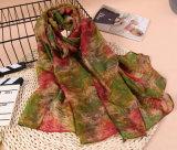 5 couleurs écharpe en mousseline de soie en mousseline de soie haute qualité