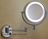 Miroir d'agrandissement dégrossi fixé au mur d'hôtel double avec l'éclairage LED