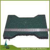 mattonelle di gomma dell'osso di cane di colore verde di spessore di 25mm per il cavallo