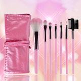 Professional Hot Pink 7pcs conjunto de cepillos de maquillaje (HERRAMIENTA-111)