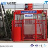 Solo elevador del alzamiento de la construcción de la jaula 1t Sc100 de la alta calidad