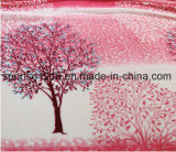 Couverture de corail estampée molle superbe d'ouatine estampée par Sr-B170213-18 de couverture de flanelle