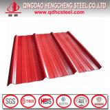 Chapas de techos de acero corrugado de zinc revestido de color