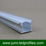 LED 테이프 빛을%s U 모양 2515 중단된 LED 알루미늄 밀어남