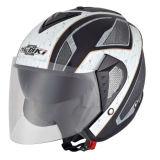 ECE Motorradhelm mit offenem Gesicht/Doppelvisier (NK-629)