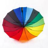 16 أضلاع قوس قزح كبير لعبة غولف مظلة مع صنع وفقا لطلب الزّبون علامة تجاريّة ([غل-1627ر])