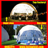 Transparent à l'extérieur en PVC blanc tente dôme géodésique Fastup