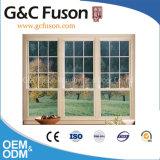 Drei Gleis-schiebendes Aluminiumfenster mit französischem Gitter-Entwurf