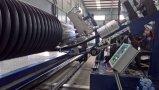 Porfiledの壁の螺線形の巻上げは配管する生産ライン(HDPE)を