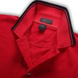 La couleur rouge de haute qualité Mens Polo Shirt personnalisé