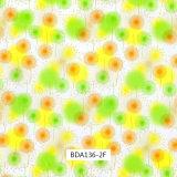 Padrão de Flores vivas filmes Hidro para sapatos e uso diário (BDA107F)