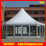 Sechseckiger Gazebo-fester Wand-Pagode-Zelt-Glasdurchmesser 12m