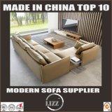 L faisant le coin de forme de cuir de sofa sofa vers le bas