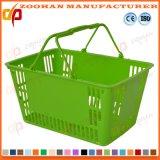 고품질 상업적인 슈퍼마켓 플라스틱 휴대용 쇼핑 바구니 (Zhb115)