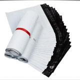 耐久の柔らかさ白いカラープラスチック郵便利用者袋の習慣のロゴ