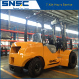 Forklift Diesel do recipiente de China 3.5t com mastro de Dulpex