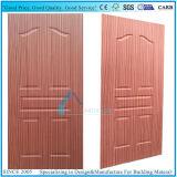 EV-placage en bois moulé Sapelli porte du panneau de contreplaqué de la peau