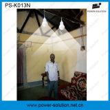 4W 11V Painel Solar Sistema de iluminação solar em casa portátil com 2 luzes do carregador de telemóvel (PS-K013N)