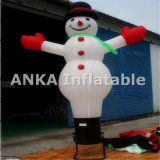 Pequeño muñeco de nieve inflable bailarín del aire para la Navidad