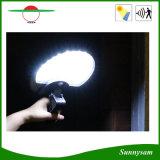 Поворачиваемый все в одном из 56 светодиодный индикатор движения солнечной энергии для освещения сада на стену внутри наружного освещения