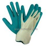 guante cubierto látex del trabajo de los guantes de la mano de la seguridad 10g