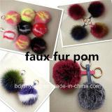 Стильный поддельные/ФО кролик мех POM Poms для одежды аксессуары