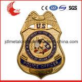 Custom рельефным логотипом позолоченный оптовые шерифа эмблемы