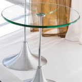 le diamètre 560mm de 6mm 8mm 10mm 12mm 916mm ronds/meubles d'hôtel/patio café de cercle a gâché/protecteur de table durci en verre