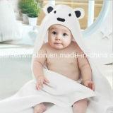 귀를 가진 100%년 면 또는 대나무 아기 두건이 있는 수건