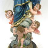 In het groot Hars Godsdienstige Virgen met het Standbeeld van Kinderen voor Decoratie
