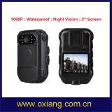Polícia desgastada corpo video DVR desgastado de WiFi da câmera da polícia de HD1080p corpo video cheio