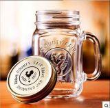 Tarro caliente del jugo de la venta/tarro de la taza/masón/vidrio de cristal de la taza de la bebida