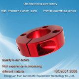 Aluminum7075 anodisés rouges personnalisent le matériel de commande numérique par ordinateur de précision/machine/pièces de usinage